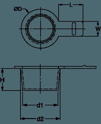 H 230 Universalschutzstopfen mit Lasche