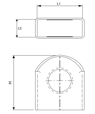 H 255 Ringstutzenkappen