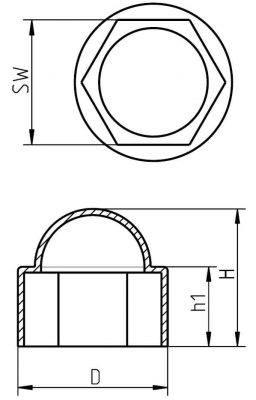 H 605 Sechskantschutzkappen