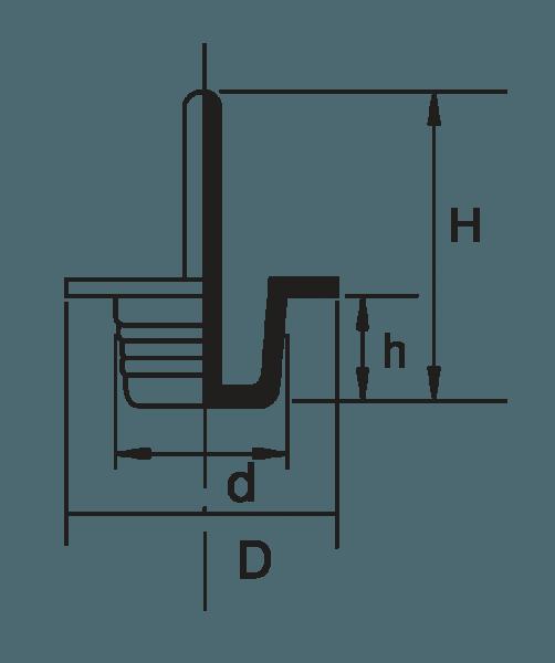 H 831 Griffstopfen mit Abziehlasche