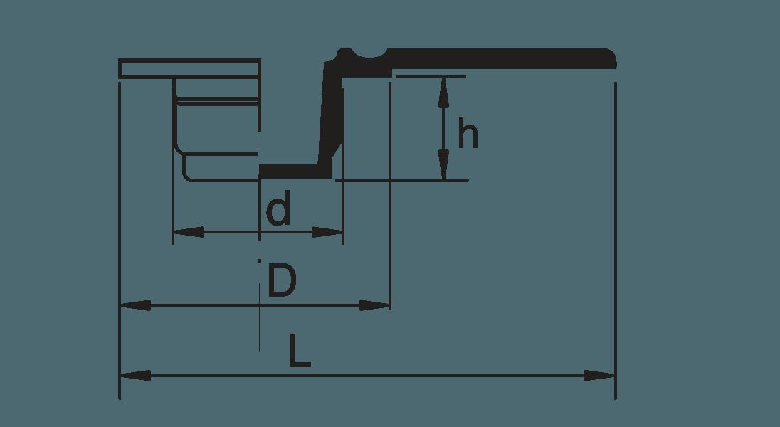 H 832 Griffstopfen mit Seitenlasche